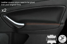 ORANGE  STITCH 2X REAR DOOR CARD TRIM LEATHER COVERS FITS FORD MONDEO MK4 07-13
