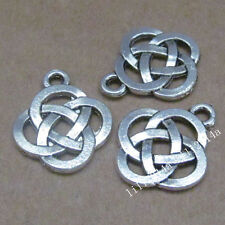 20pc Tibetan Silver Charms Beads Chinese knot Pendant Jewellery Making  PL435