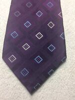 GEOFFREY BEENE MENS TIE PURPLE WITH BLUE AND WHITE 3.75 X 61