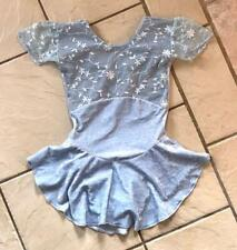 New Girls Baby Ice Blue Velvet Lace Ballet Competition Figure Ice Skating Dress
