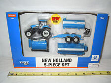 New Holland TG230 C&J Farm System 5-Piece Implement Set   1/64th Scale