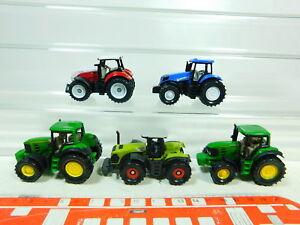 BT453-0, 5 #5x Siku 1:87 (?) Tractor: John Deere + Claas + Steyr +New Holland,
