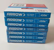 """7 Boxes Of 1250 T50 Staples - Arrow 10mm 3/8"""" universal fit 8750 staples in all"""