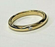 Tiffany & Co Elsa Peretti 18k Yellow Gold Single Diamond Band