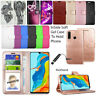 For Huawei P30 Lite Phone Case Wallet Cover Leather Flip Book + Screen Protector