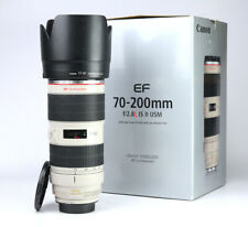 Canon EF 70-200mm F2.8 L MK II Image Stabilizer IS USM Zoom Lens Boxed F/R Caps