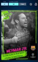 Topps Kick Neymar Jr. UCL Highlights Award 2016 Digital Card 157CC
