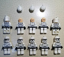 STAR WARS 10PCS WHITE CLONE Trooper With Guns Block Toys XX1