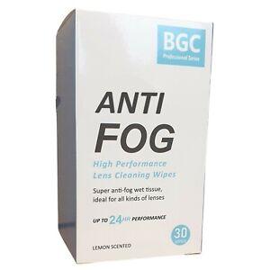 Anti Fog Wipes for Glasses : 1 Box of 30 Wipes (Anti Fog Mask, Anti Fog Spray)