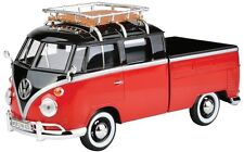 1:24 VW Type 2 (T1) Pickup with Roof Rack (Red/Black) - Motor Max 79552