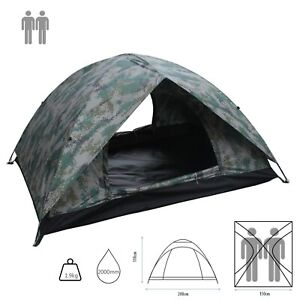 2/3/4 Person Tent Double Layer Camouflage Beach Waterproof camping outdoor event