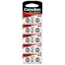 10 Piles bouton CAMELION AG10