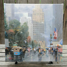 Thomas Kinkade - New York, Central Park S at 6th Ave - Gallery Wrapped Canvas