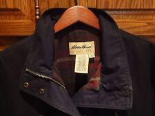 Eddie Bauer Women's Jacket Black Water Repellent Shell w/ Wool Lining M L  $150