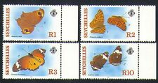 Seychelles 1987 Butterflies/Insects/Nature/Conservation 4v set (n32803)