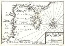 Antique map, Plan de la Baye de Gibraltar