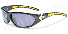 Men's Designer X Loop Sunglasses XL15701 UV400 Davis G7 yellow black sunnies
