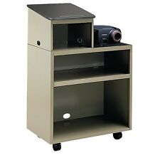 Smith System Mobile Projector Lectern Podium Presentation Side Document Wheels