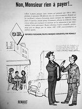 PUBLICITÉ GARANTIE RENAULT VOITURES D'OCCASION TOUTES MARQUES NON RIEN A PAYER