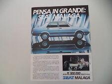 advertising Pubblicità 1985 SEAT MALAGA