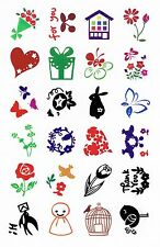 Cartoon Nature Set of 24 Small Clear Cling Stamps