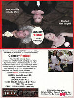 COMEDY CABARET - COMEDY PERIOD ADVERTISING UNUSED COLOUR POSTCARD