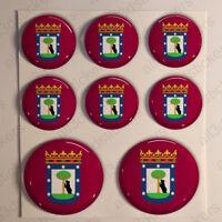 Pegatinas Madrid Pegatina Bandera Madrid Resina Vinilo Relieve España 3D