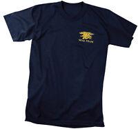 Official US Navy Seal Team T-Shirt USN Seals Trident Special Warfare Navy Blue