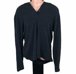 Industrie Men's Long Sleeved XXL/2XL Grey Cotton Hooded Top/Jumper