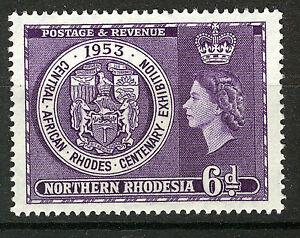 NORTHERN RHODESIA 1953 CENTENARY EXHIBITION SG59 BLOCK OF 4 MNH