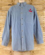 Bissell Vacuum Cleaners Denim Shirt Lee Mens Large Long Sleeve Work Uniform
