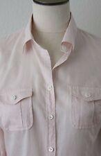 J.Crew Blouse Apricot/Light Pink Shirt Top checkered Size 4, 100% Cottonv