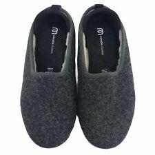 Mahabis Classic Slip on Slipper Wool Felt Charcoal Gray EU 38 US 7.5 Womens