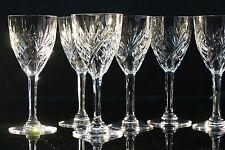 Saint Louis, modèle Chantilly, 10 verres à vin blanc en cristal taillé
