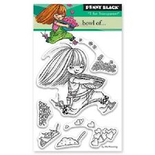 PENNY BLACK RUBBER STAMPS CLEAR BOWL OF ...NEW STAMP