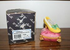 Fitz and Floyd Cinderella Golden Slipper Salt and Pepper Set - New in Box