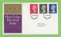 G.B. 1970 Large Machin Definitives set on Post Office First Day Cover