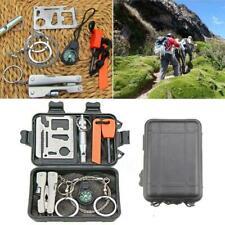 1 Satz SOS Notfall Überleben Ausrüstung Kit Outdoor taktische Camping Werkzeug
