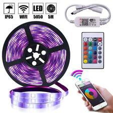 5M RGB 5050 Waterproof LED Strip light SMD 44 Key Remote Wifi Wireless Light