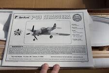 "RC Balsa Airplane Kit - Top Flite Gold - Bell P-39 Aircobra - Wingspan 63"""