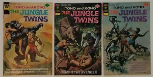 Dell Gold Key Comic Book Lot: Tono & Kono Jungle Twins # 11, 16, 17