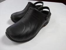 Anywear Zone Black Slip-On Nurses/Doctor Shoes/Clogs W/Backstrap Size 10