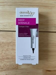 DERMA V10 Deep Wrinkle Anti-Ageing Collagen Filler Face Cream 15ml BNIB X2