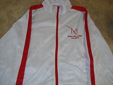 M Resort Wind Tec White w/Red Jacket Long Sleeve size XL w M Casino Logo
