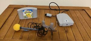 Hey You, Pikachu! Authentic N64 Game, Microphone, Holder, and VRU. Tested.