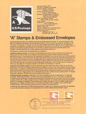 #7812 'A'(15c) Eagle Stamps #1735/1543 USPS Souvenir Page