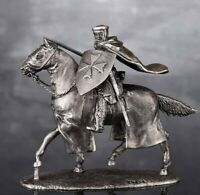 Zinnfigur. Equestrian knight Miniature figurine of a RIDER. Toy soldiers. 6025Ke