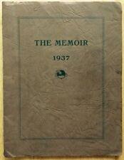 1937 TROUTVILLE HIGH SCHOOL YEARBOOK, THE MEMOIR, TROUTVILLE, VA