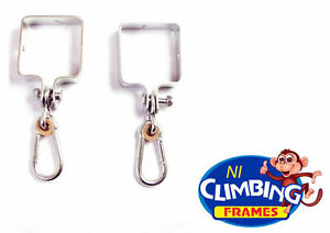 TWO Square 90mm type swing hook galvanised steel post Swing set Climbing Frame