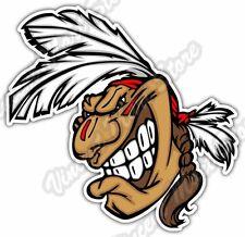 "Indian Chief Head Apache Cherokee Seminole Car Bumper Vinyl Sticker Decal 3.6X5"""